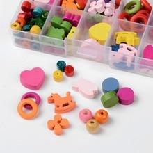 Kid's DIY Jewelry Wooden Beads Box