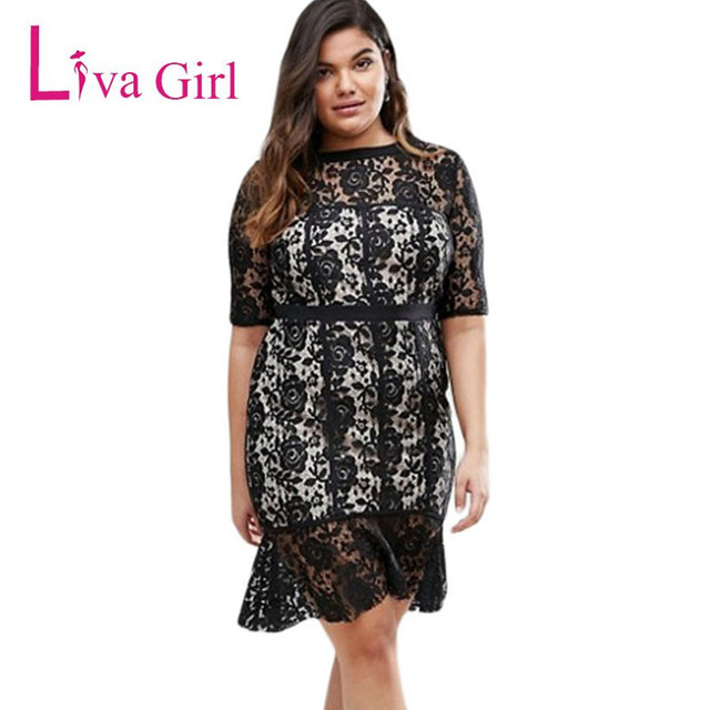 Aliexpress Buy Liva Girl Women O Neck Vintage Lace Midi Dress