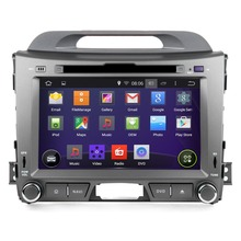 8 inch Android 4.4.4 Quad-Core Car GPS Navigation DVD Player Special for  KIA Sportage Series 3 R ( 2010 2011 2012 )