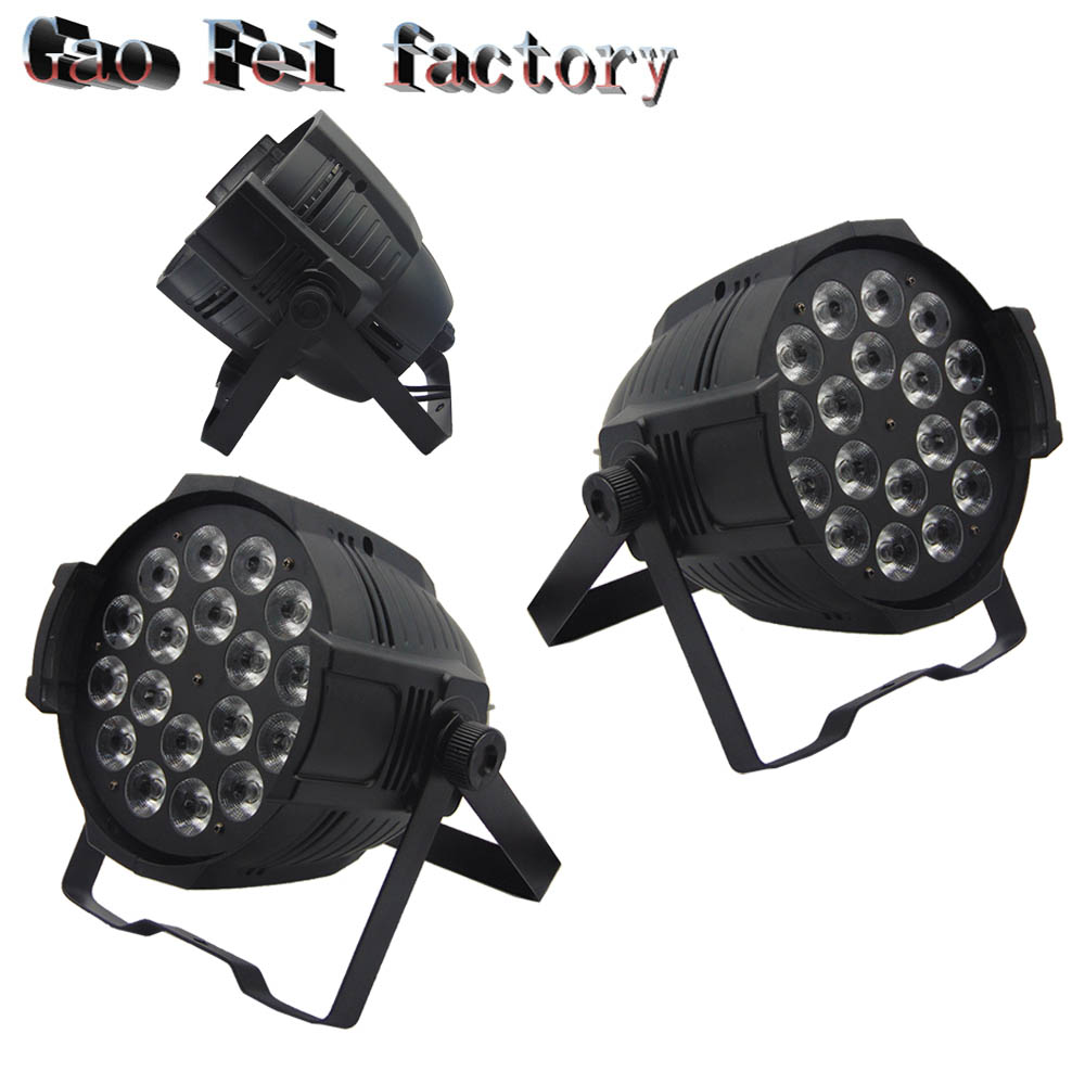 2pcs /18X12W LED PAR Lights dmx512 disco RGBW 4in1 professional dj equipment 2pcs lot rgbw 4in1 18x12w led par full color disco lights dmx512 par led professional dj equipment dye with power in power out