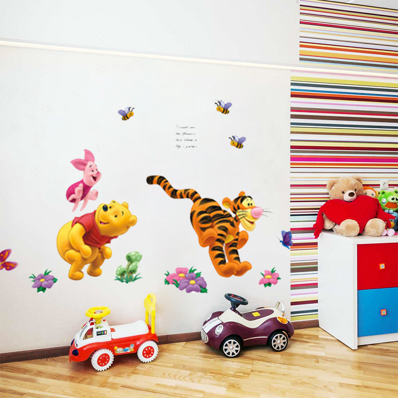 Aliexpress.com : Buy Cartoon Winnie The Pooh Bear Pig Tiger Wall Stickers  For Kids Rooms Nursery Children Wall Decals Decorative Wallpaper Poster  From ... Part 46