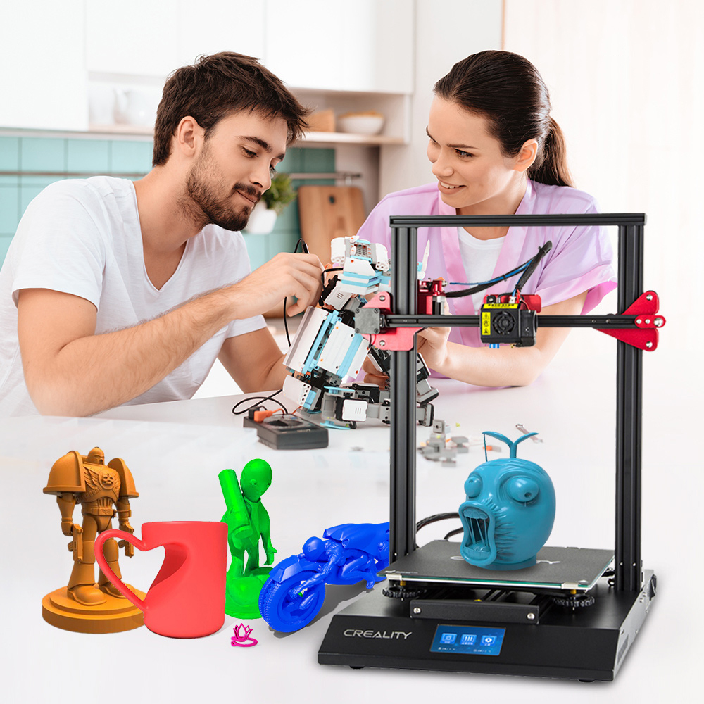 Creality 3D CR-10S Pro bricolage 3D imprimante Kit 300*300*400mm taille d'impression coloré pour tactile LCD reprendre impression Filament détection