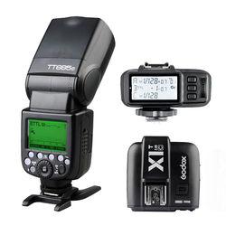 Godox TT685C Speedlite Flash HSS E-TTL II Autoflash for Canon with Godox X1C Transmitter