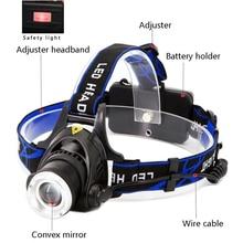 Pockeman 8000LM T6/L2 Led Headlamp Zoomable Headlight Waterproof Head Torch flashlight Head lamp Fishing Hunting Light