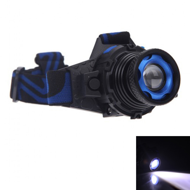 Cree Q5 3 Modes 1000 Lm LED Rechargeable Headlight Headlamp Zoomable Head Lamp Spotlight Lantern For