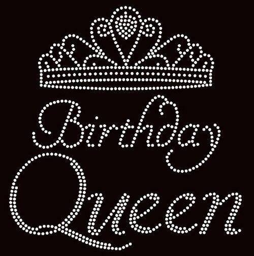 Free Shipping Birthday Queen Crown Rhinestone Transfer Iron On In Rhinestones From Home Amp Garden