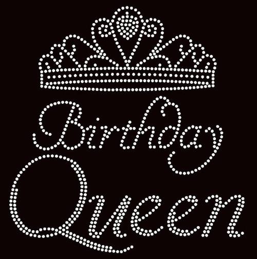 Free shipping Birthday Queen Crown Rhinestone Transfer Iron on-in ... 799a410b6cc9