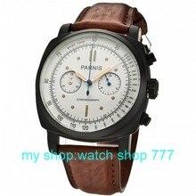 45mm nueva moda caja de PVD PARNIS movimiento de cuarzo Japonés reloj hombre 0258aaa