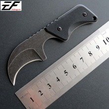 Mini Pocket Straight Knife EF03 Fixed Blade Knives AUS-8 Steel Stainless Handle Portable EDC Tool
