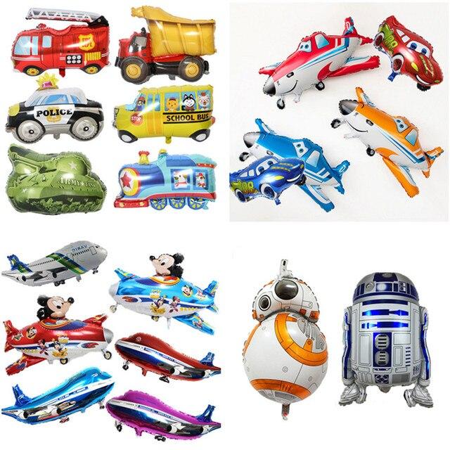 1 pc mickey minnie aerostati della stagnola mobilitazione e Buzz Lightyear e robot aereo aria palle di decorazione del partito di compleanno per bambini globos giocattolo