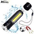 USB Aufladbare LED Taschenlampe Fahrrad Licht Seite licht design + Schwanz magnet design Multi funktion Zoomable Fackel Für camping|LED-Taschenlampen|   -