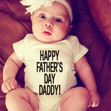 Top Sell Summer Baby Rompers Happy Father's Day Daddy Printed Newborn Infant One-piece Clothes Boys Girls Kids Jumpsuit