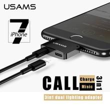 3 en 1 De Charge Audio avec Adaptateur appel Pour iPhone7 7 Plus 3.5 MM Casque Casque Jack Chargeur Écouteur Câble haute qualit USAMS 10.3