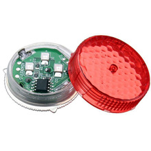 2pcs Car Red Flash Light LED Styling Door Opened Warning Indicator Decorative Lamp Wireless with 3V Button Battery For BMW