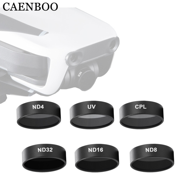 CAENBOO Camera Filters For Mavic Air UV CPL Polarized ND 8 16 32 Neutral Density Set Drone Filter For DJI Mavic Air Accessories