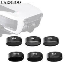 CAENBOO фильтры для камеры Mavic Air UV CPL поляризационные ND 8 16 32 нейтральная плотность набор фильтр для дрона для DJI Mavic Air Аксессуары