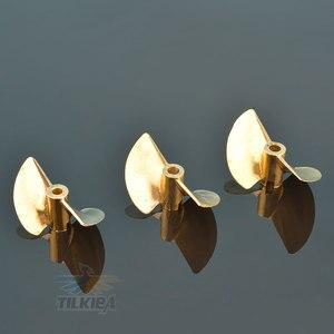 Image 5 - RC D30/32/35/38/44/48/50/52mm Boot Prop 3,18mm/4mm/4,76mm PositiveScrew 2 klingen Kupfer Propeller Links Für RC Boot