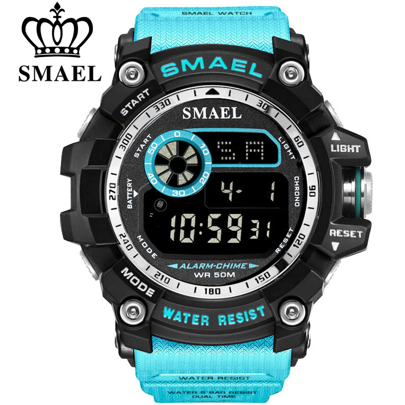 SMAEL Military Digital Watches Men Alarm Waterproof Watch LED Back Light Sport Wristwatch Chronograph Countdown Clock Male 8010 цена и фото