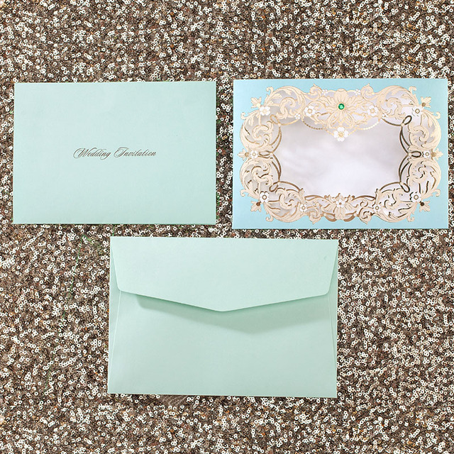 50pcs customized romantic elegant lace paper event party supplies 50pcs customized romantic elegant lace paper event party supplies decoration flower vintage guest green wedding invitation stopboris Gallery