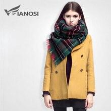 VIANOSI High Quality Plaid Scarf Women Cashmere Winter Scarf Female Warm Tartan Foulard Shawl Scarves