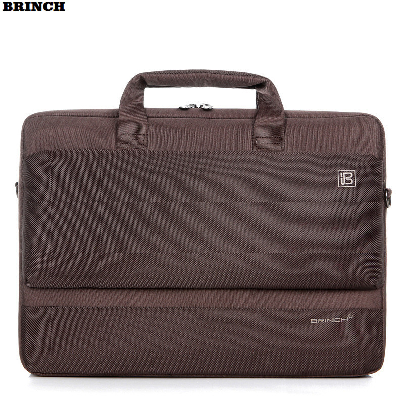 BRINCH Computer Bag 15.6 17 inch For Men Women Shoulder Bags Universal Waterproof Nylon Laptop Messenger Notebook PC Briefcase 15 15 6 inch big size nylon computer laptop solid notebook tablet bag bags case messenger shoulder unisex men women durable