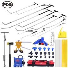 PDR Tool To Remove Dents Hooks Push Rods Car Dent Repair Door Dings Damage Repair Kit Suction Cups For Dents