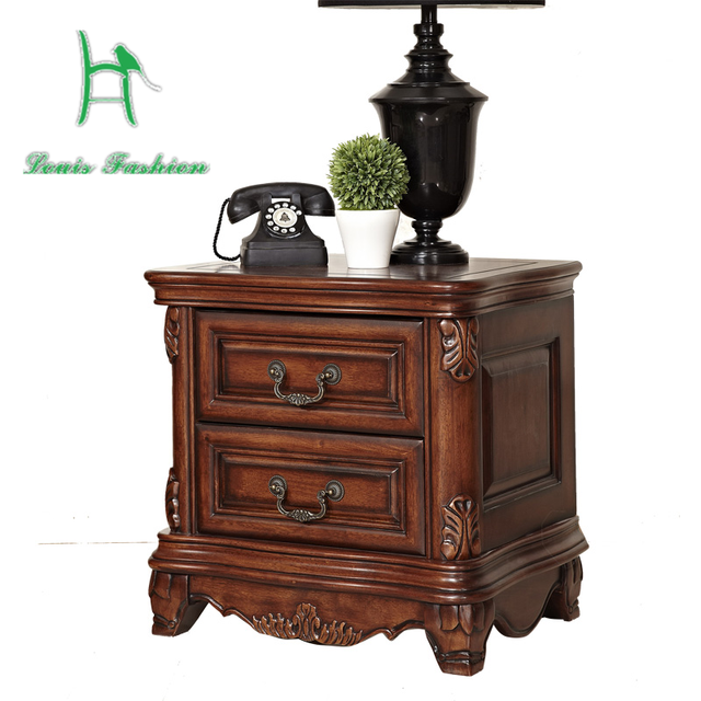 The antique furniture bedside bedside table of European American country  furniture cabinet wood - The Antique Furniture Bedside Bedside Table Of European American