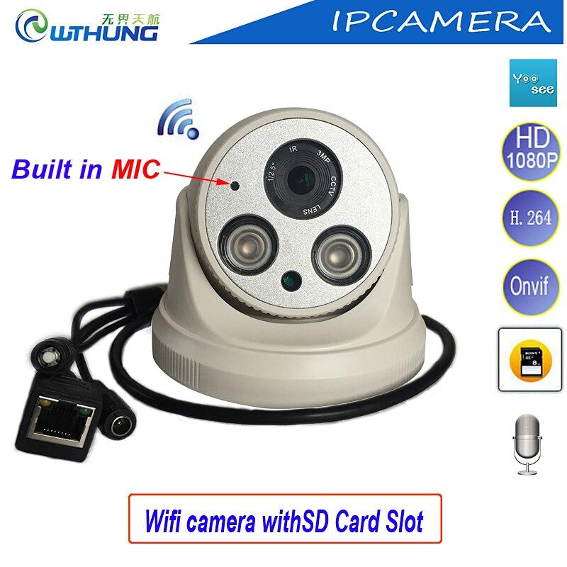New font b Wireless b font IP Dome Camera Wifi HD 720P 960P 1080P CMOS Sensor