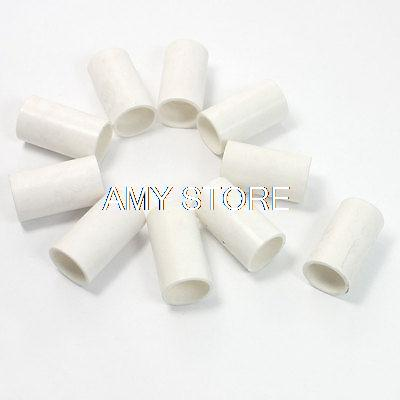 White PVC Tube Couplers Straight Pipe Connectors 16mm Diameter