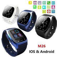 Wasserdichte Smartwatch M26 Bluetooth Smart Uhr mit LED Alitmeter Musik-player Schrittzähler für IOS Android Smartphone