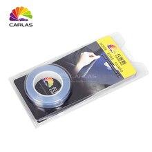 משלוח חינם 1.5 CM x 5 M עור קרנף רכב הפגוש הוד צבע הגנה לקולנוע ויניל ברור שקוף סרט