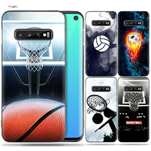 Silicone Case Coque for Samsung Galaxy S8 S9 S10 Plus S10e 5G S6 S7 Edge S8+ S9+ S10+ Note 8 9 Basketball Football Soccer Volley(China)