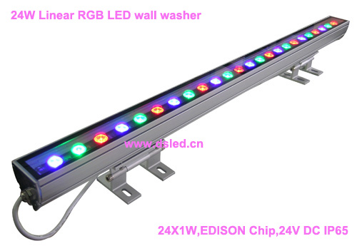 IP65,CE,good quality, high power 24W Linear RGB LED wall washer,Linear 24W RGB LED wash light,24*1W,24VDC,DS-T11-100cm-24W-RGB, ip65 ce good quality high power 36w rgb led wall washer rgb led wash light 12 3w rgb 3in1 24vdc ds t21a 36w rgb 50cm pc
