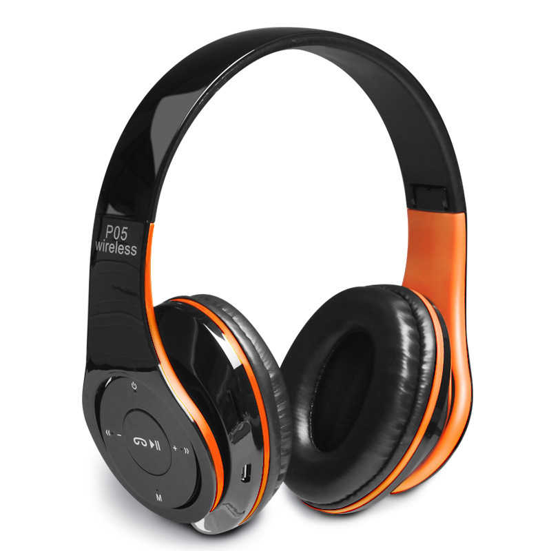 P-05 Fordable Bluetooth Headphones Wireless with Microphone Support TF Card Stereo Headset For iPhone Samsung ks 509 mp3 player stereo headset headphones w tf card slot fm black