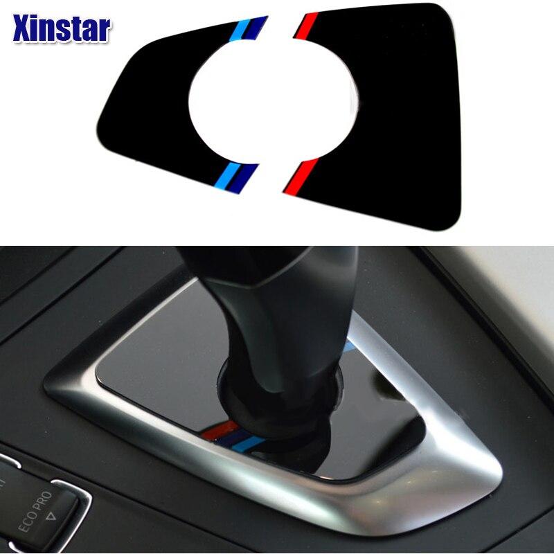 Acrylic M power performance Car gear shifter decoration sticker for BMW 2013-2016 3 series F30 F35 118i 316i 320i 328i