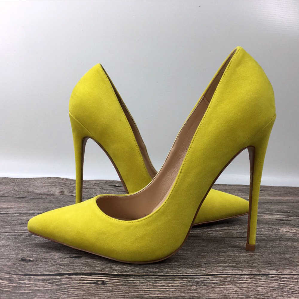 2470ef7f9 Detail Feedback Questions about Yellow high heels exclusive patent brand  fashion shallow mouth high heels shoes shoes 10cm 12cm women's shoes on ...