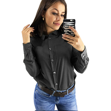 Sexy Spring Solid Women Shirts Long Sleeve Turn Down Collar Office Ladies Shirt Chiffon Tops And Blouses Tunic Tops Blusas 2019 sexy striped print women shirts long sleeve turn down collar office ladies shirt fashion casual tops and blouses tunic tops 2019