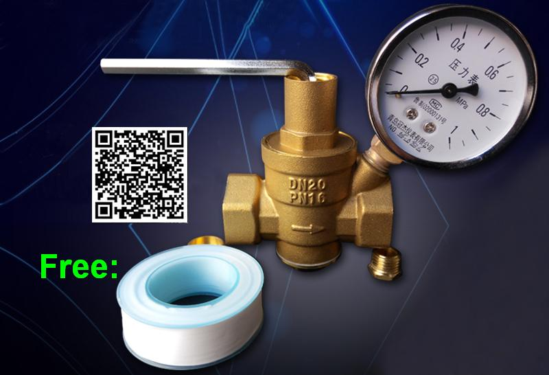 DN20 3/4 Pressure Gauge Pressure Maintaining Valve Brass Water Pressure Regulator/Reducing/Relief Valves With manometer 2dn50 brass water pressure regulator without gauge pressure maintaining valve tap water pressure reducing valve