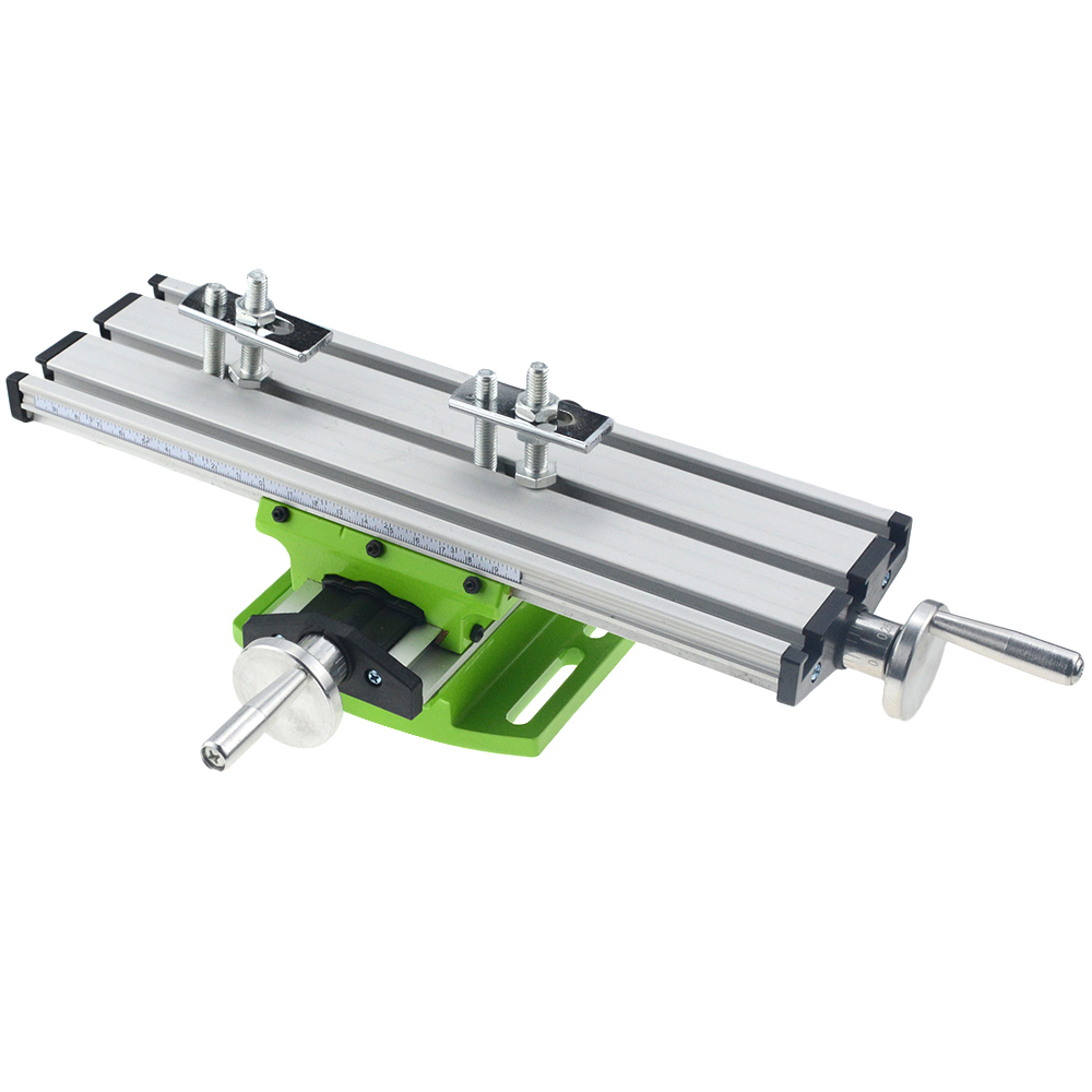 Milling Machine Bench Drill Vise X Y-Axis Adjustment Table Fixture Worktable