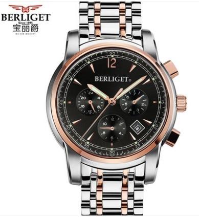 Automatic mechanical watch 50M water  BERLIGET wristwatches mens Automatic mechanical watch