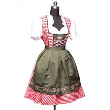 2Pc/Set Octoberfest German Beer Costume Bavarian Austrian Traditional Oktoberfest Dirndl Dress With Apron