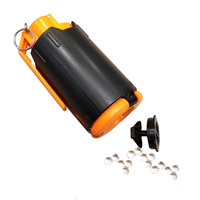 Tactical Plastic Modified Crystal Water Beads Bomb Crystal Water Bullet Bomb Black Orange