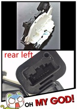 rear left for VW GOLF JETTA SKODA YETI (5L) SEAT ALHAMBRA (7N) LEON III (5F) LEON ST (5F) Door Lock Latch Actuator Driver Side