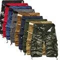 Pantalones cortos de carga militar para hombre de verano camuflaje puro algodón marca ropa cómodos hombres tácticos Camo Cargo pantalones cortos
