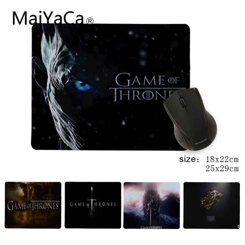 Babaite Simple Design Game of Thrones Gaming Silicone Pad to Mouse Game Gamer Speed Mice Retail Small Rubber Mousepad