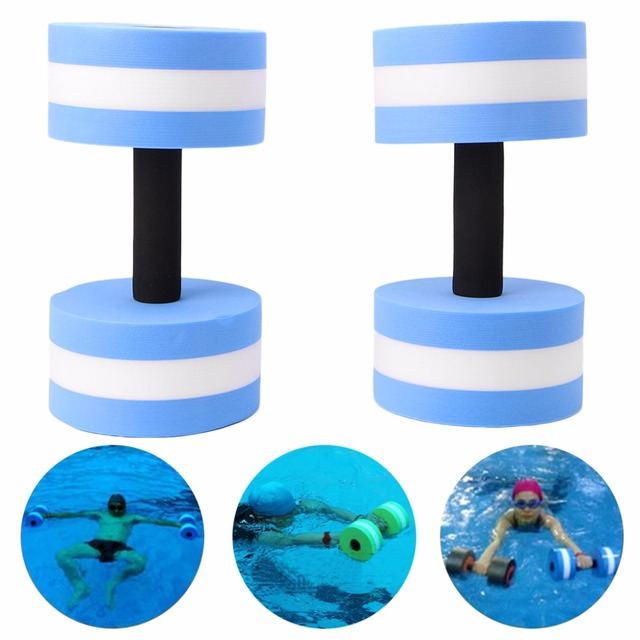 ad23512661d 1 Pair Water Aerobics Dumbbell Medium Foam Aquatic Barbell Fitness Pool  Exercise Aerobice Exercise Dumbell