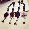 XL13 цветы бижутерия башни воротник ларго collier femme 2016 ювелирные изделия лонг колареш bijoux ожерелье ожерелья mujer женщины