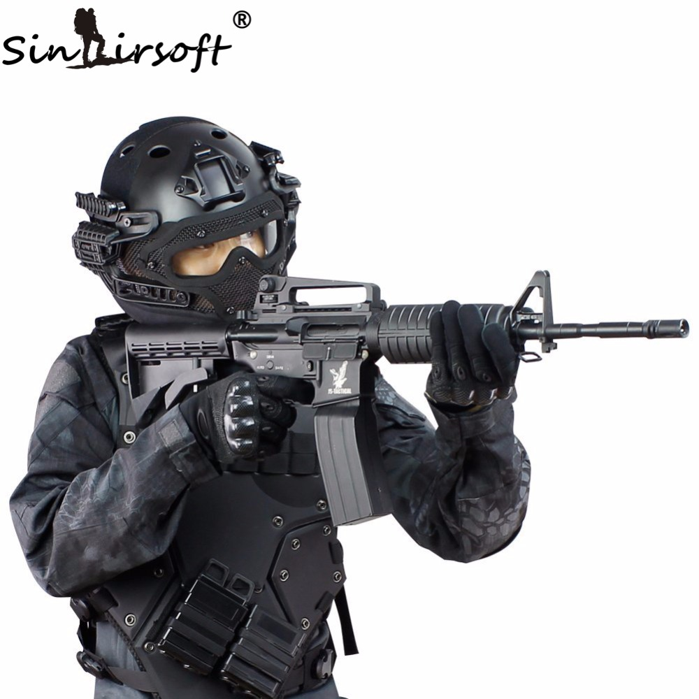 SINAIRSOFT Tactical Helmet New G4 System  ABS Full Face Mask With Goggle For Military Airsoft Paintball Army fast helmet high quality outdoor airframe style helmet airsoft paintball protective abs lightweight with nvg mount tactical military helmet