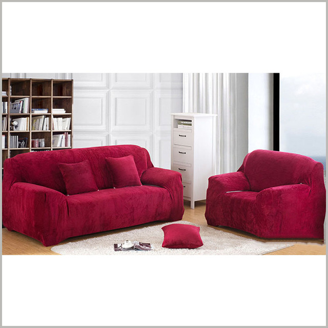 Stretch Sofa Cover Elasticity 100 Polyester Couch Furniture Sofas Solid Single