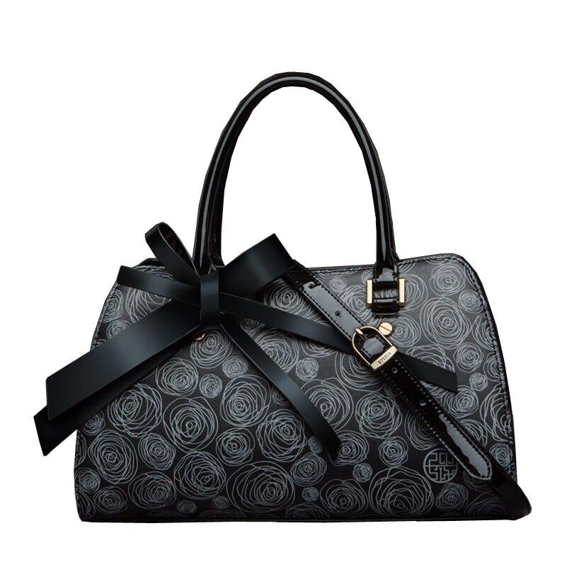Famous brand top quality dermis women bag The new 2015 bow shoulder Messenger Bag printing Handbag Diana package